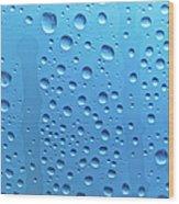 Waterdrops Wood Print