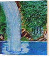 Waterfall 4 Wood Print