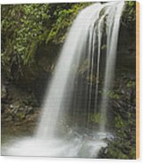 Waterfall At Springtime Wood Print