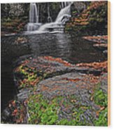 Waterfall Childs State Park Wood Print