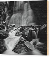 Waterfall Down The Mountains Wood Print