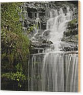 Waterfall Flows Wood Print