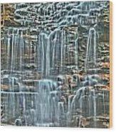 Waterfall Highights Wood Print