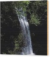 Waterfall In A Forest, Glencar Wood Print
