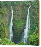 waterfall in Laos Wood Print