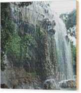 Waterfall In Nice Wood Print