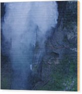 Waterfall In Spain  Near Granada Wood Print