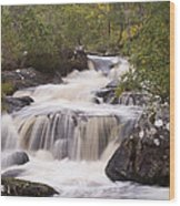 Waterfall In The Highlands Wood Print