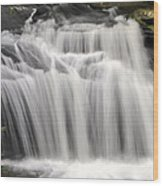 Waterfall In The Woods Wood Print