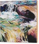 Waterfall Maui Wood Print