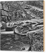Waterfall Mono Wood Print