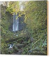 Waterfall Of Vaucoux. Puy De Dome. Auvergne. France Wood Print