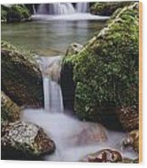 Waterfall, Peter Lougheed Provincial Wood Print