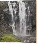 Waterfalls Over A Cliff Norway Wood Print