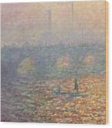 Waterloo Bridge Wood Print by Claude Monet