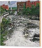 Waterpower Wood Print