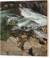 Waters Edge Glen Alpine Creek Wood Print