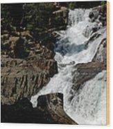 Waters Flow Glen Alpine Falls Wood Print