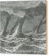 Waterspouts Wood Print