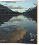 Waterton Lake Sunset Canada Wood Print