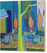 Watertown Cafe Wood Print
