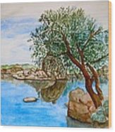 Watson Lake Prescott Arizona Peaceful Waters Wood Print