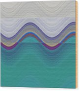 Wave Runner Wood Print by Ricki Mountain