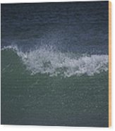 Wave Sprey On A Windy Day At Jupiter Beach Wood Print