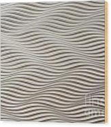Waves And Stripes Background Wood Print