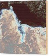 Waves At Arch Rock Wood Print