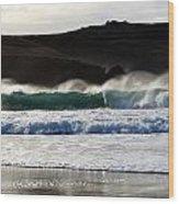 Waves At Clogher Beach Wood Print