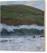 Waves In Beenbane Wood Print