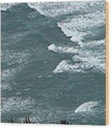 Waves In The Sky Wood Print