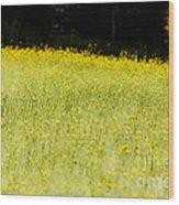 Waves Of Yellow Wood Print