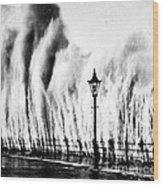Waves Smashing Seawall, 1938 Wood Print