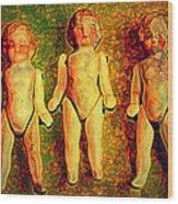We Three Wood Print