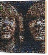 Weasley Twins Mosaic Wood Print