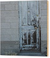 Weathered Door Virginia City Nevada Wood Print