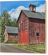 Weathered Red Barn Wood Print