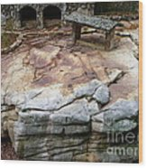 Weathered Stone Wood Print