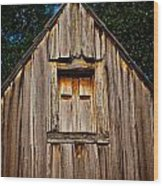 Weathered Structure Wood Print