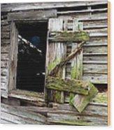 Weathered Wood Window Wood Print