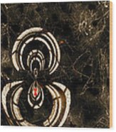 Web Mistress Wood Print by Paula Ayers