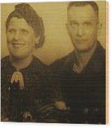 Parents Wedding 1940 Wood Print