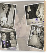Wedding Album Page - Fine Art Wood Print