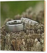 Wedding Bands And Fence Post 12 Wood Print