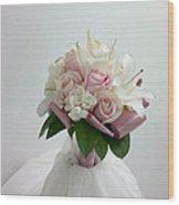 Wedding Bouquet Wood Print by Lali Partsvania