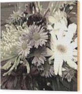 Wedding Bowquet Wood Print