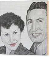 Wedding Day 1954 Wood Print