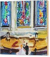 Wedding Day At Second Presbyterian Church Charleston Sc Wood Print